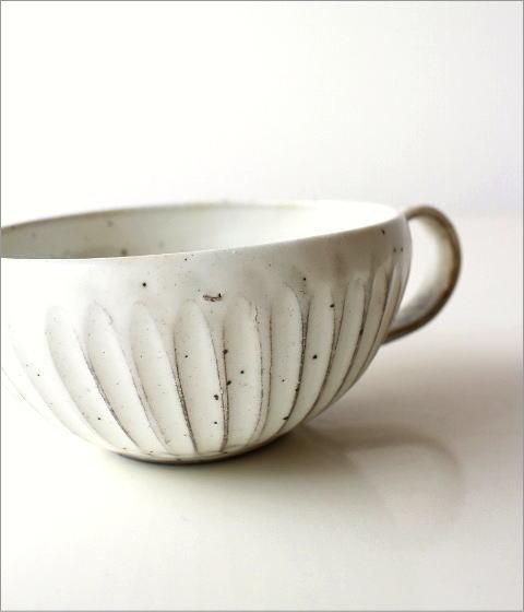 粉引削りスープカップ(2)