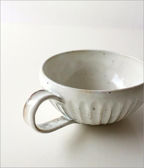粉引削りスープカップ(3)