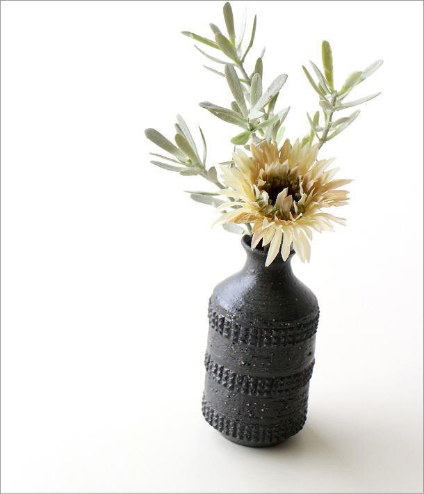 黒陶 筒型 花入れB(1)