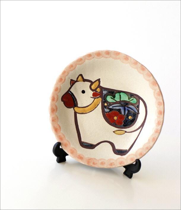 干支 丑 絵皿(スタンド付き)(1)