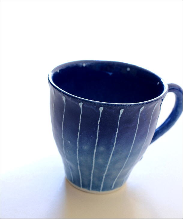 藍彩十草マグ(1)