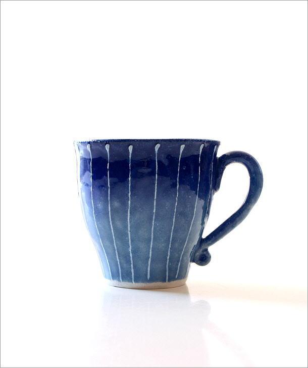 藍彩十草マグ(4)