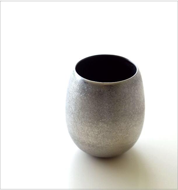黒柚子銀塗 しずくカップ(1)