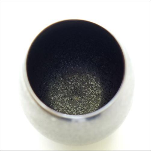 黒柚子銀塗 しずくカップ(3)