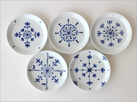 欧化紋小皿5セット(2)