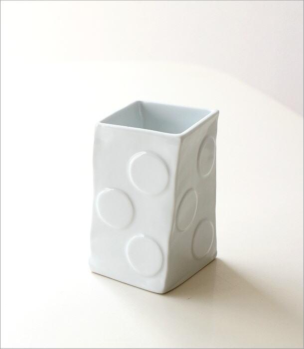 陶器の箸立て 白磁(4)