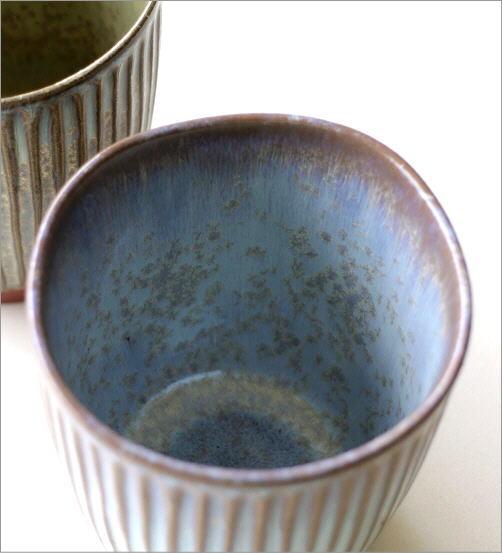 窯変しのぎ湯呑2カラー(3)