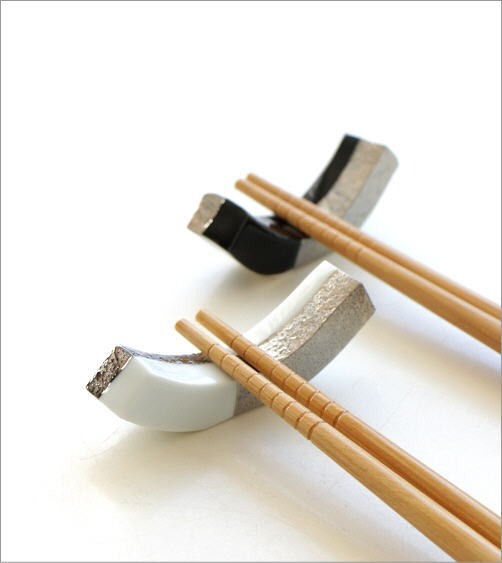 箸置き 白銀 黒銀(2)