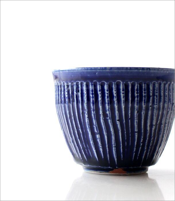 瑠璃釉しのぎ フリーカップ(1)