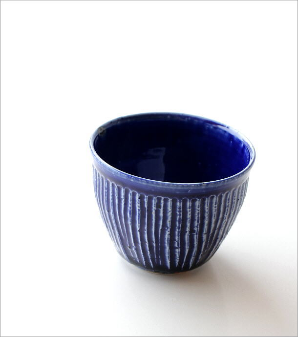 瑠璃釉しのぎ フリーカップ(2)