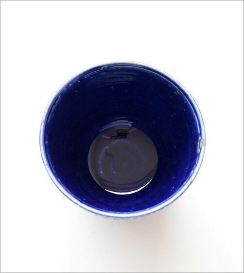瑠璃釉しのぎ フリーカップ(4)