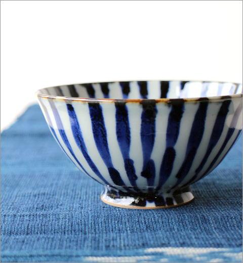 飯碗 染付濃十草2カラー(2)