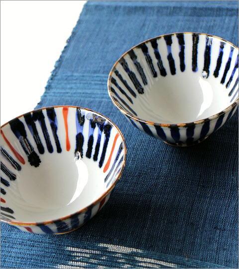 飯碗 染付濃十草2カラー(4)