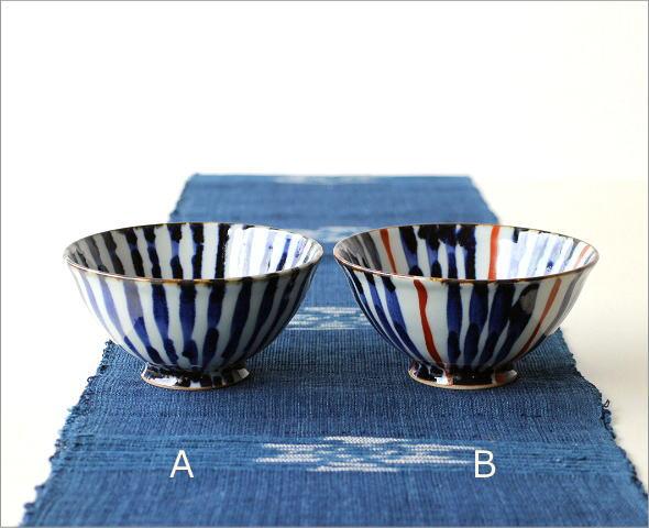 飯碗 染付濃十草2カラー(5)