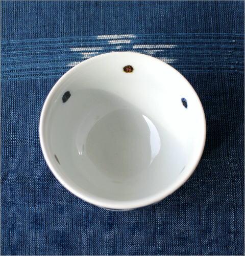 飯碗 染付渦草花(3)