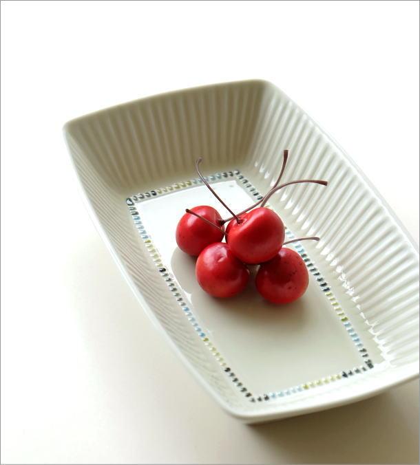 モザイクしのぎ長角深皿(1)