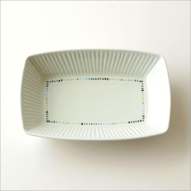 モザイクしのぎ長角深皿(4)