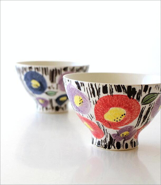 ごはん茶碗セット 刷毛花紋(1)