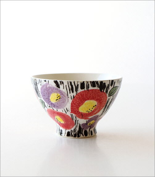 ごはん茶碗セット 刷毛花紋(4)
