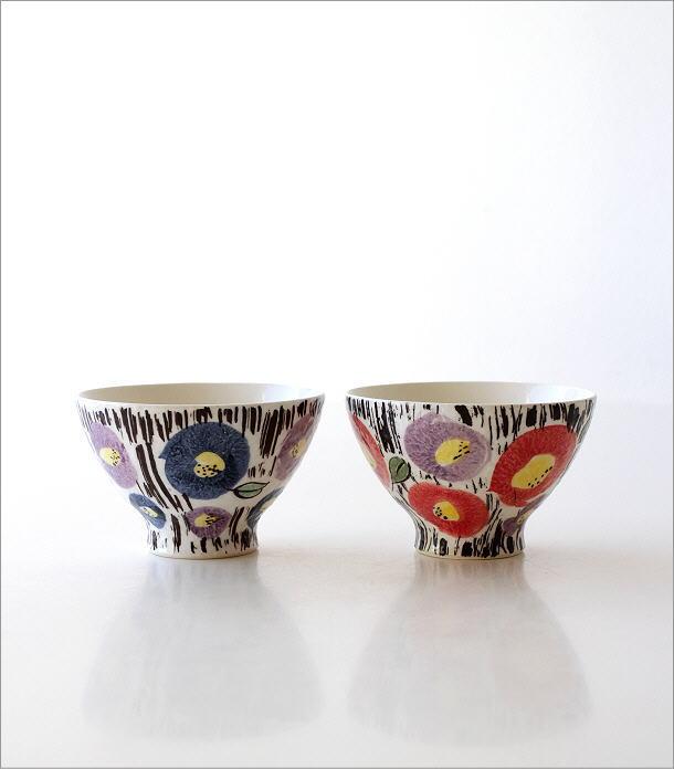 ごはん茶碗セット 刷毛花紋(5)