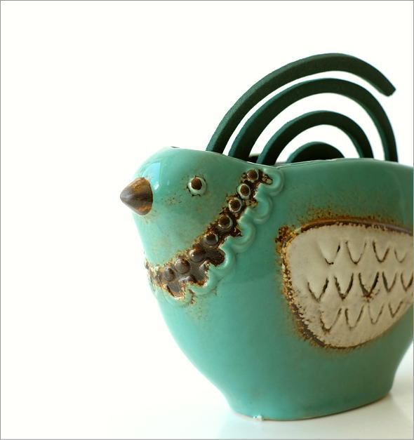 陶器の蚊遣り ブルーバード(1)