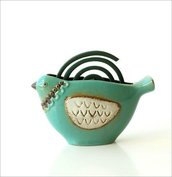 陶器の蚊遣り ブルーバード(5)