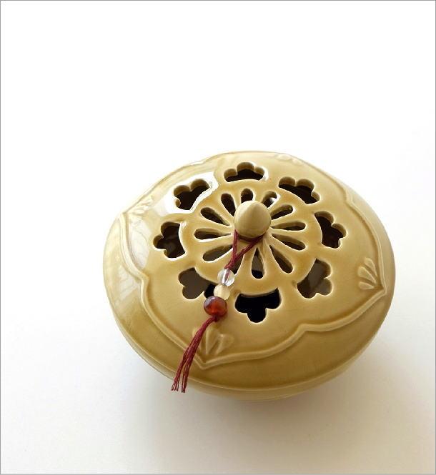 陶器の蚊遣り イエローアジア(1)