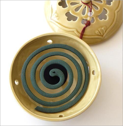 陶器の蚊遣り イエローアジア(2)