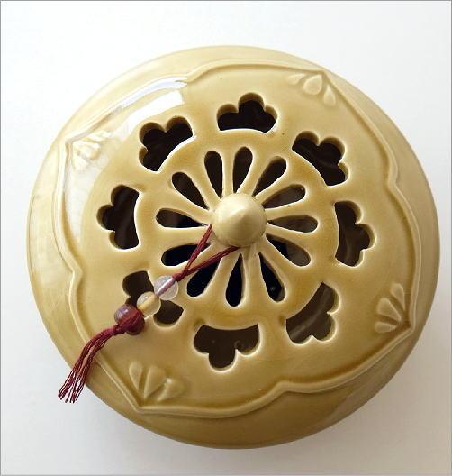 陶器の蚊遣り イエローアジア(4)