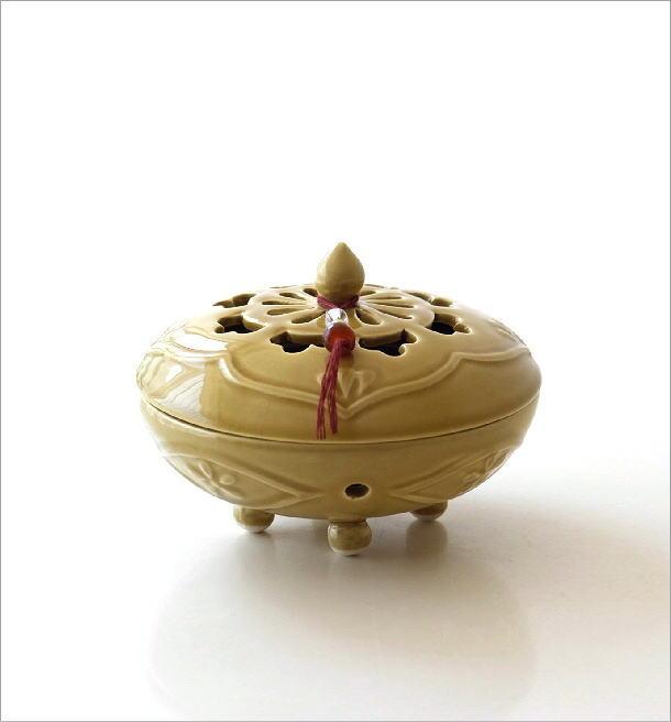陶器の蚊遣り イエローアジア(5)