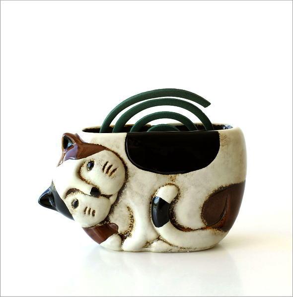 陶器の蚊遣り ミケネコ(5)
