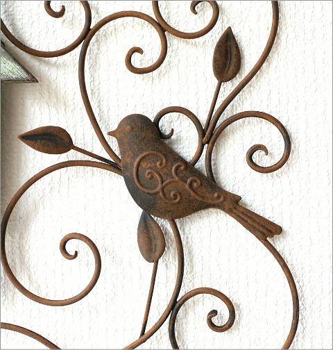 アイアンの壁飾り ウッドバードハウス(3)