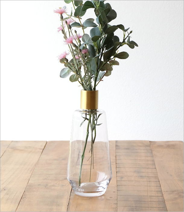 ガラスボトルベース ゴールドエッジ L(1)