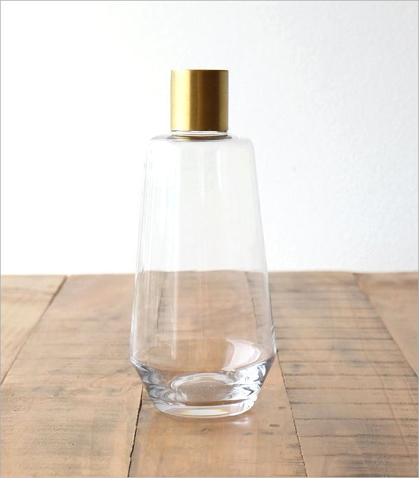 ガラスボトルベース ゴールドエッジ L(3)