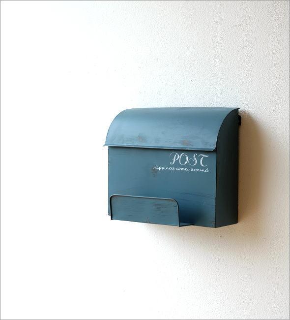 シャビーなメタルBOXポスト(1)