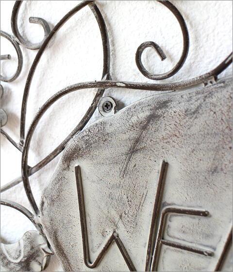 アイアンの壁飾り ウェルカムバード(2)