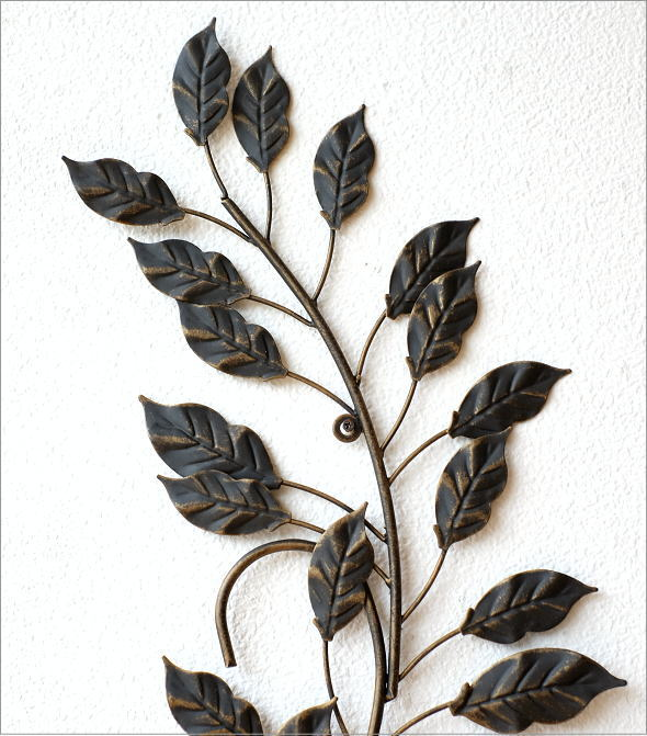 アイアンの壁飾り ロングリーフ(1)