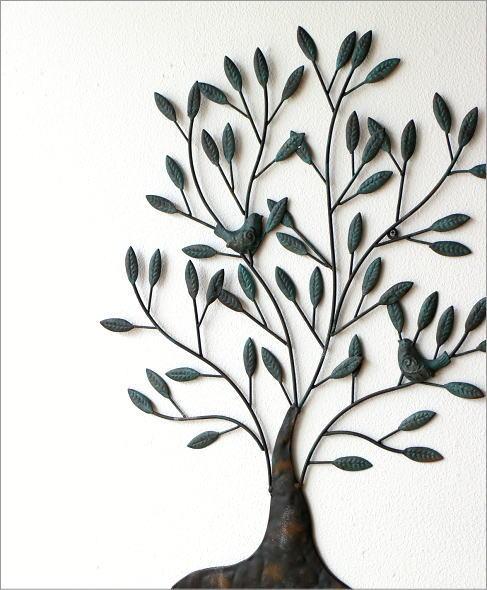 アイアンの壁飾り 2バードツリー(1)