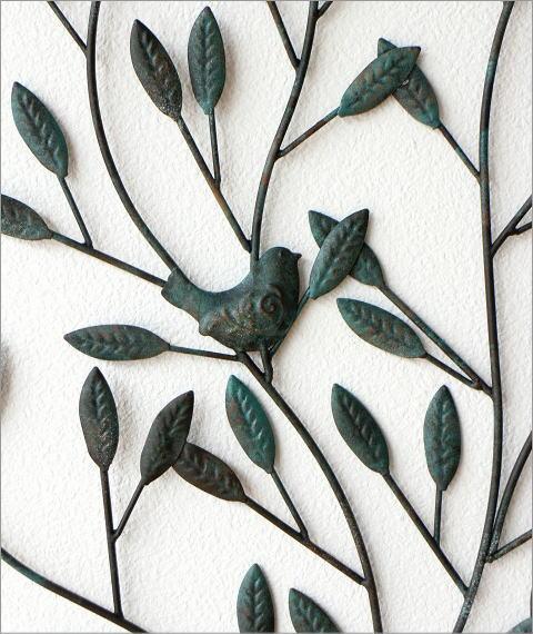 アイアンの壁飾り 2バードツリー(2)