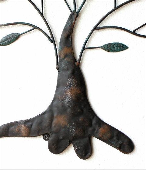 アイアンの壁飾り 2バードツリー(3)