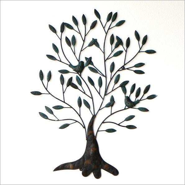 アイアンの壁飾り 2バードツリー(4)