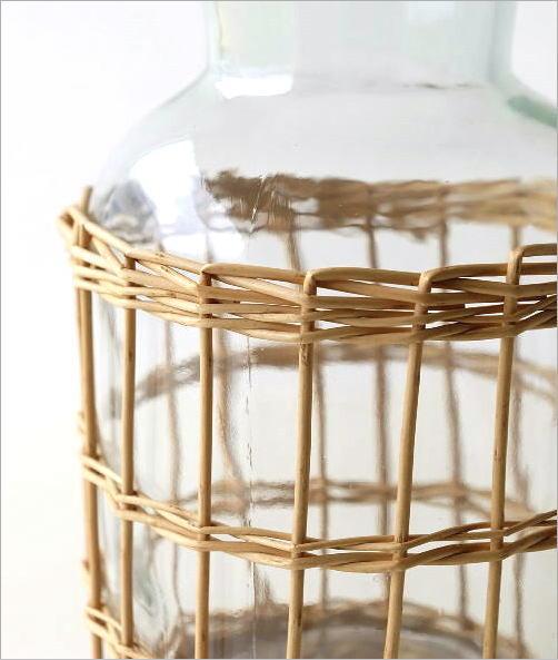 ウィローとガラスのベース フラワーボトル(3)