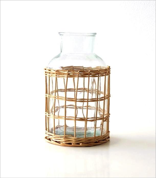 ウィローとガラスのベース フラワーボトル(5)