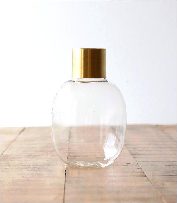 ガラスボトルベース ゴールドエッジ M(3)