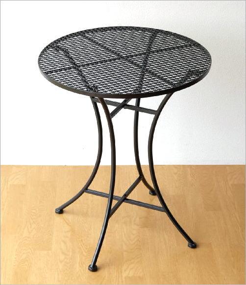 アイアンのガーデンテーブル BK(2)