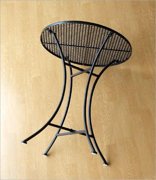 アイアンのガーデンテーブル BK(5)