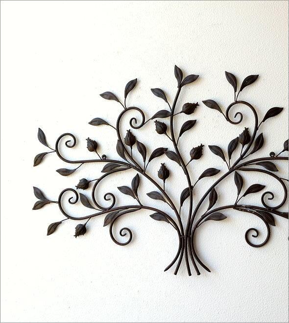 レトロなアイアンの壁飾り ブーケ(1)