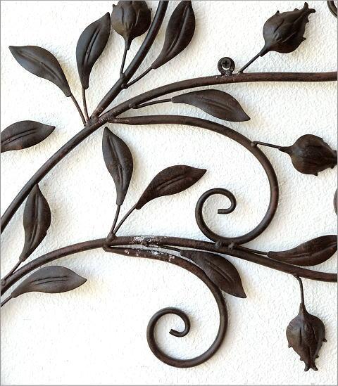 レトロなアイアンの壁飾り ブーケ(2)