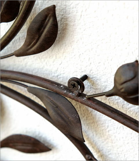 レトロなアイアンの壁飾り ブーケ(3)