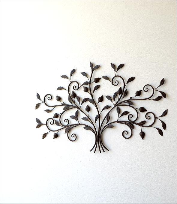 レトロなアイアンの壁飾り ブーケ(4)
